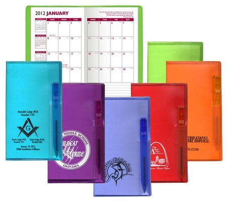 Personalized Monthly Pocket Planners with Pen - 2022