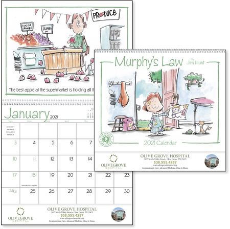 Murphy's Law 2021 Personalized Wall Calendars