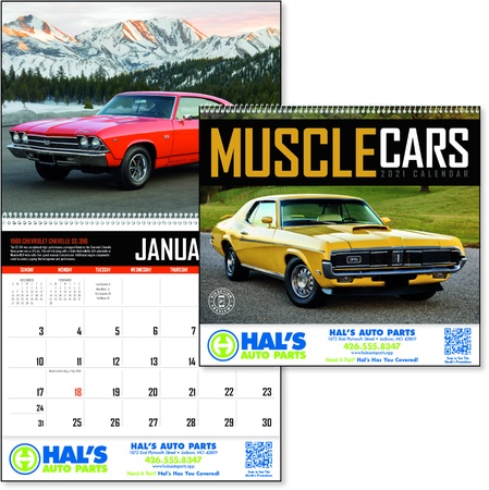 Muscle Cars Promotional 2021 Calendars