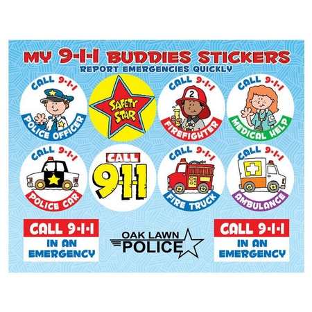 My 9-1-1 Buddies Stickers