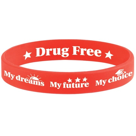 My Choice Drug Free 2-Sided Silicone Bracelets