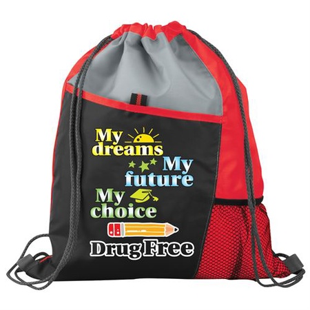 My Choice Drug Free Drawstring Backpack