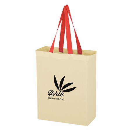 Natural Cotton Canvas Promo Grocery Tote Bags