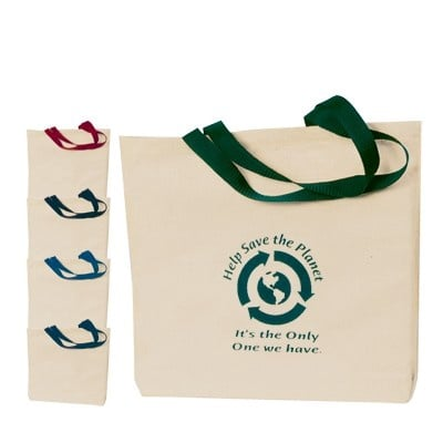 Imprinted Natural Cotton Canvas Tote Bags