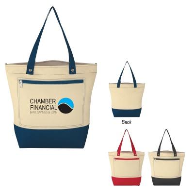 Natural Pocket Custom Tote Bags