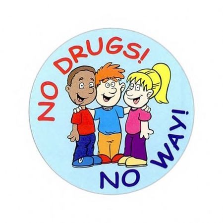 No Drugs, No Way Stickers
