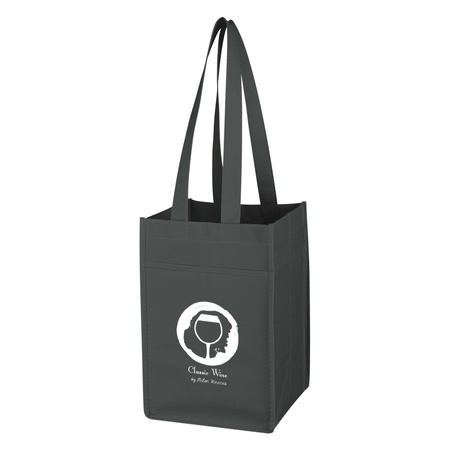 Non-Woven 6 Bottle Personalized Wine Tote Bag