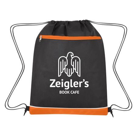 Non-Woven Bandura Custom Drawstring Bags