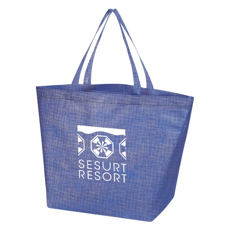 Non-Woven Crosshatched Custom Tote Bags