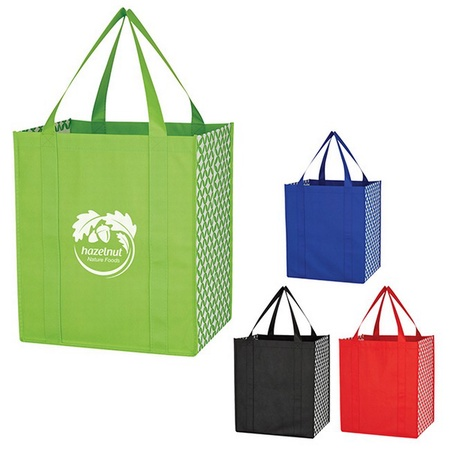 Non-Woven Curved Diamond Custom Tote Bags