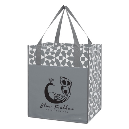 Non-Woven Geometric Custom Shopping Tote Bags