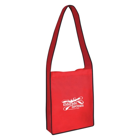 Non-Woven Messenger Tote Bag with Hook & Loop Closure