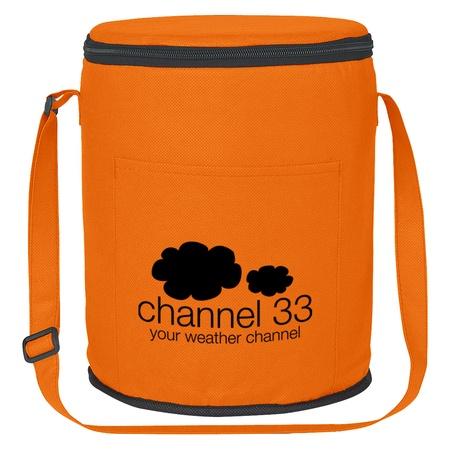 Imprinted Non-Woven Round Cooler Bags