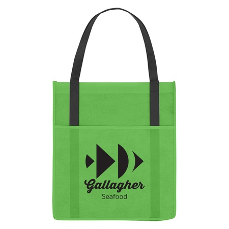 Non-Woven Shopper's Pocket Tote Bag