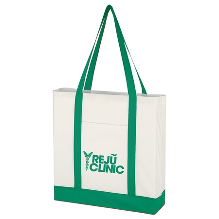 Imprinted Non-Woven Tote Bags with Trim Colors