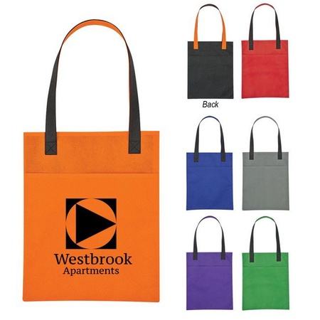 Custom Non-Woven Turnabout Brochure Tote Bags