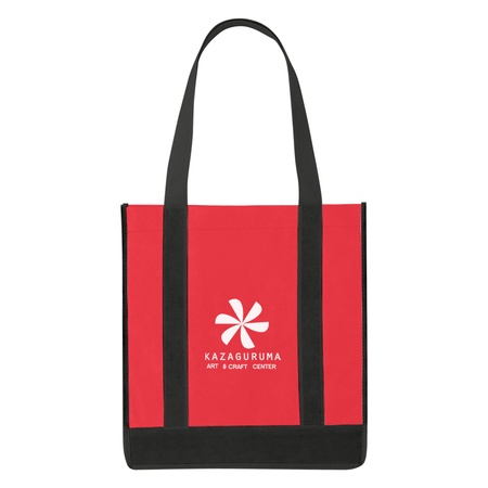 Non-Woven Two-Tone Shopper Tote Bag