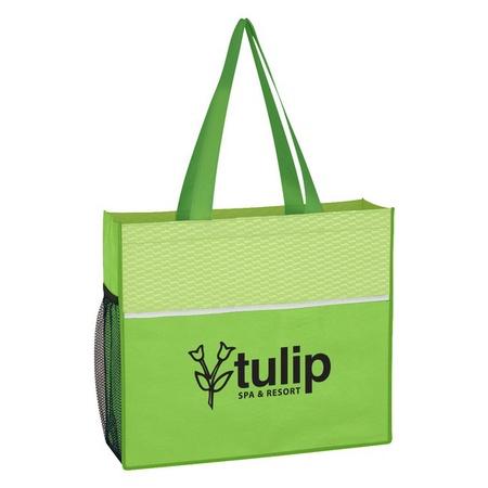 Non-Woven Wave Design Custom Tote Bags