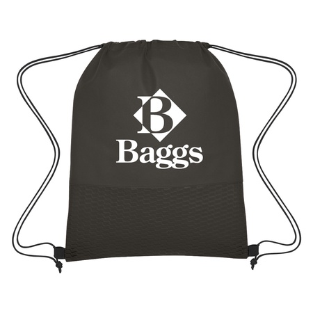 Non-Woven Wave Custom Drawstring Bags