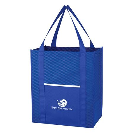 Non-Woven Wave Custom Shopper Tote Bags