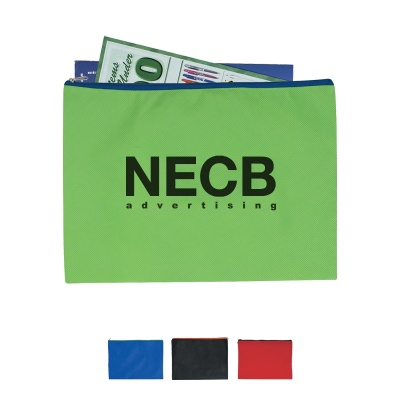 Custom Non-Woven Zippered Document Sleeve