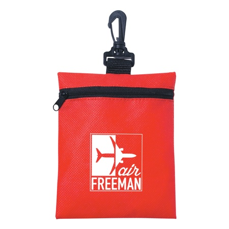 Personalized Non-Woven Zippered Pouch
