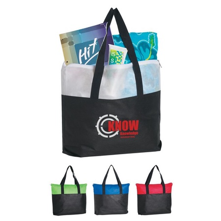 Non-Woven Zippered Tote Bags with Personalization