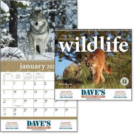 North American Wildlife 2022 Promotional Wall Calendars
