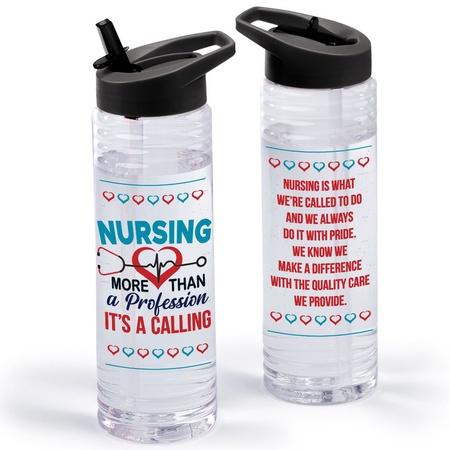 Nurse Appreciation Water Bottle & Carrying Sling Gift