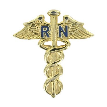 Nurse Caduceus Lapel Pin