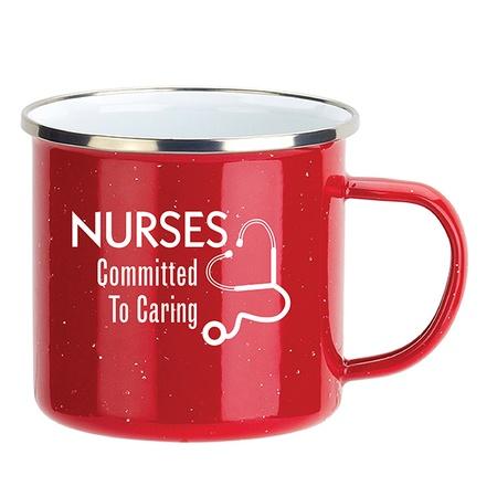 Nurses Enamel-Lined Iron Coffee Mug Staff Gifts