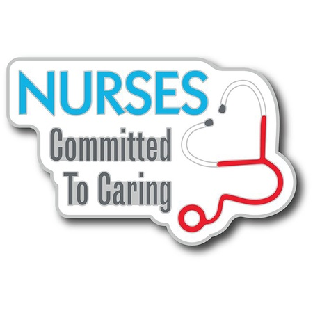 Nurses Committed To Care Lapel Pin with Card
