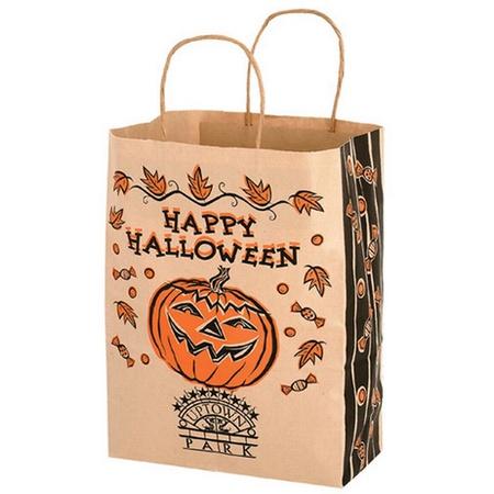 "Imprinted Paper 10"" x 5"" x 13"" Halloween Bags"