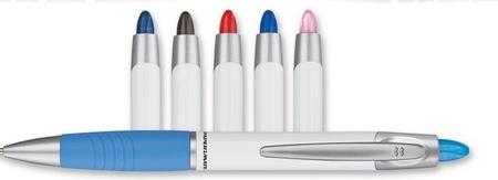 Paper Mate Element White Barrel Ballpoint Pen