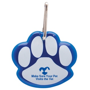 Paw Shaped Reflective Collar Tag