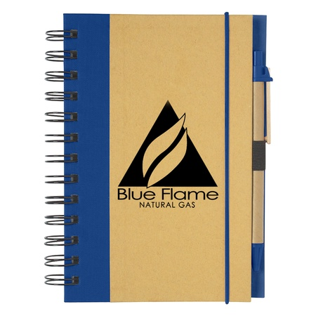 Personalized Eco-Friendly Spiral Notebook & Pen
