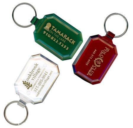 Personalized Gem Cut Keytags