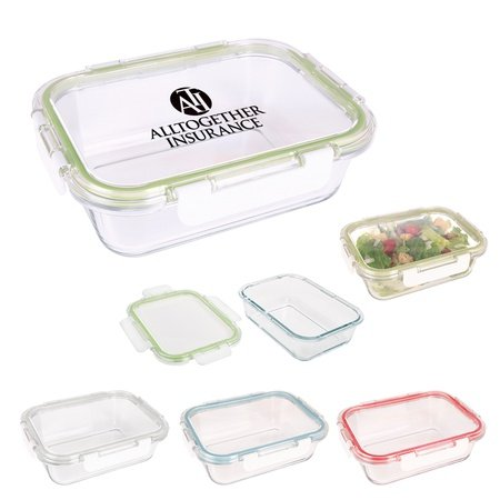 Personalized Square Glass Food Containers