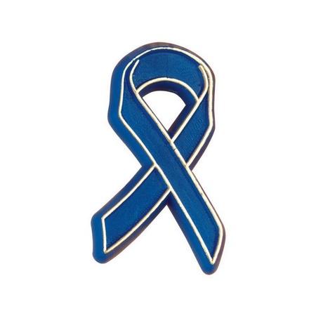 Plastic Blue Ribbon Lapel Pins