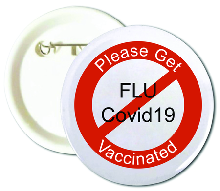 Please Get Vaccinated Buttons