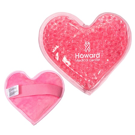 Plush Heart Imprinted Hot & Cold Pack