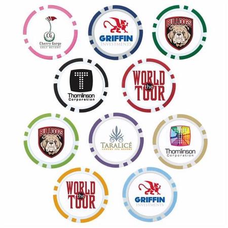 Custom Poker Chip Golf Ball Markers