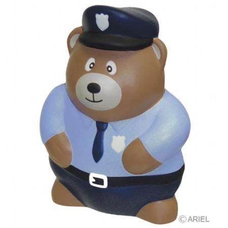 Police Bear Stress Ball
