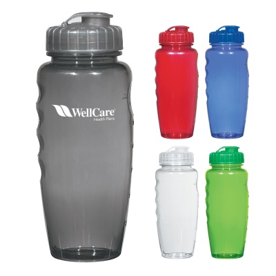 Poly-Clear Gripper Promotional 30 oz. Bottles