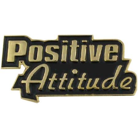 Positive Attitude Lapel Pin