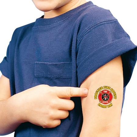 Practice Fire Safety Everyday Temporary Tattoos