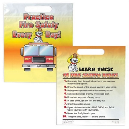 Practice Fire Safety Plastic Goody Bags with Personalization