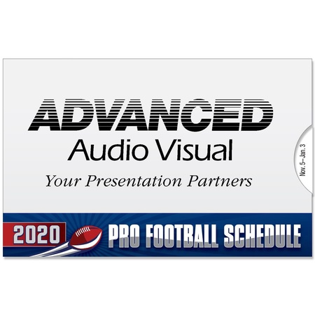 Personalized Pro Football Wallet Schedules - 2020