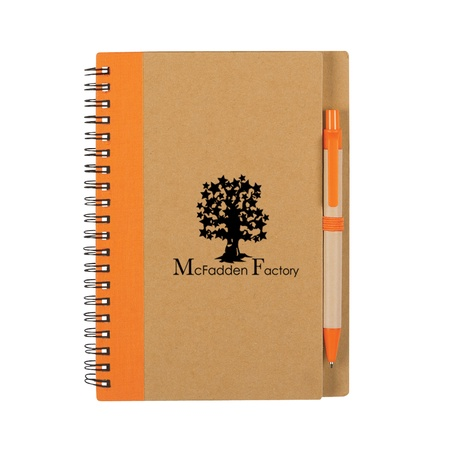 Promotional Eco Spiral Notebook & Pen