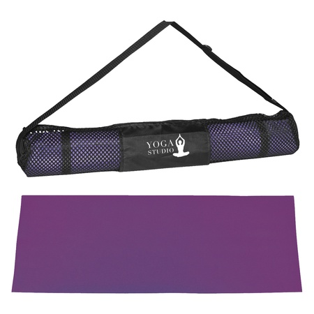 PVC Yoga Mat & Carrying Case with Logo Imprint